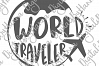 World Traveler Sign Print & Cut PNG SVG DXF PDF JPG Files example image 5