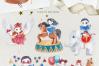 The Magic Circus vintage design set example image 6
