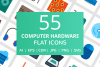 55 Computer & hardware Flat Icons example image 1
