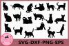 Cat svg, Cat black Svg, Cat Clipart, Animals Silhouettes example image 1