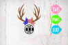 Antler Svg, America Svg, American Svg, Flag Svg, USA Antlers, 4th of July Bow, Red white and Blue Bow, Fourth of July example image 1