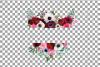 Watercolor elegant floral borders, rose, anemone frames example image 5