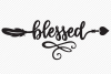 Blessed SVG, Cut File, Thanksgiving Shirt Design, Arrow example image 2