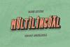 Bondie Extrude Font Family example image 6