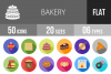 50 Bakery Flat Long Shadow Icons example image 1