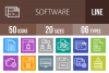 50 Software Development Line Multicolor B/G Icons example image 1