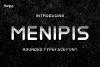 Menipis font example image 1