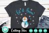 Let it Snow Snowman - A Christmas SVG Cut File example image 1