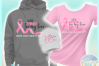 I Wear Pink For My Hero Breast Cancer Ribbon SVG example image 3