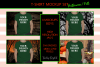 Halloween and Fall Boys t-shirt Mockup Bundle, Colored T's example image 4