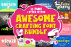 Awesome Crafting Font Bundle example image 1