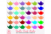 40 Colorful Teapot Clipart Rainbow Tea set clip art Illustration Stickers PNG with Transparent Background for Personal & Commercial Use example image 1