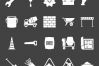 50 Construction Glyph Inverted Icons example image 2