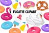 Pool Floatie Clipart example image 1