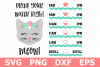 Drink You Water Right Meow - A Water Tracker SVG Cut File example image 1