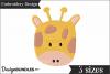 Giraffe Face Embroidery Design example image 1