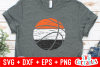 Distressed Basketball | Basketball Cut File example image 1