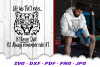 Never Quit Motivational Tiger SVG DXF Cut Files example image 2