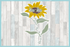 Blessed To Be Called Mom-Mom Quote with Sunflower SVG example image 3