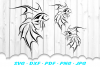 Tribal Goldfish Fish SVG DXF Cut Files example image 2