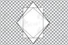 Geometric lineal black frames decor clip art. Wedding border example image 22