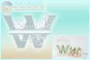 Plumeria Scrollwork Split Letter W SVG Dxf Eps Png PDF files example image 2