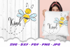 Hand Drawn Be Kind Bumble Bee SVG DXF Cut Files example image 2