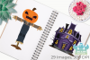 Spooky Scarecrows Clipart, Instant Download Vector Art example image 3