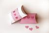 Amor y Corazones Caja Pillow Box SVG Design example image 3