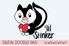 'lil Stinker Skunk SVG, Silhouette and Cricut Cut Files example image 1