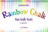 Rainbow Chalk fun kids font example image 1