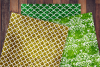 Patterned Yellow and Green Glitter Digital Paper example image 2