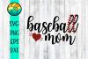 Baseball Mom - SVG - DXF - EPS - PNG example image 1