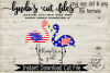 Flamerica Y'all//Flamingo//Summer//SVG//DXF//EPS example image 2