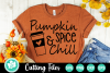 Pumpkin Spice and Chill - A Fall SVG Cut File example image 1