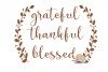 Grateful Thankful Blessed svg cut file Fall Thanksgiving svg example image 3