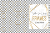 Golden geometric frames clip art. Wedding invite geo borders example image 2