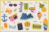 Summer Holiday Vector Clipart & Seamless Patterns example image 3