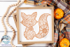 Fall Fox Zentangle SVG| Thanksgiving SVG | Fall SVG Cut File example image 2