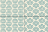 Seamless Blue Damask Patterns example image 2