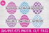 Split Pattern Easter Eggs Set - SVG, DXF, EPS Cut Files example image 1