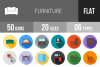50 Furniture Flat Long Shadow Icons example image 1