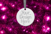 Round Christmas Ornament Mockup, Bauble Mock- Up, JPG example image 6
