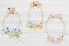 20 Geometric Framesw With Field Flowers, Poppy Wedding Frame example image 5