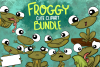 Frog Clipart| Cute Toad Clipart | Seasonal Frog Illustration example image 1