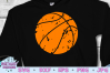 Distressed basketball svg, basketball clipart example image 1