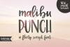 Malibu Punch, a flirty brush font example image 1