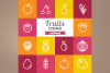 Outlined Fruits Icons example image 1