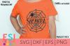 Halloween SVG | Spider and Spider Web Split Monogram 2 example image 1
