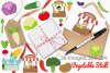 Vegetable Stall Clipart, Instant Download Vector Art example image 4